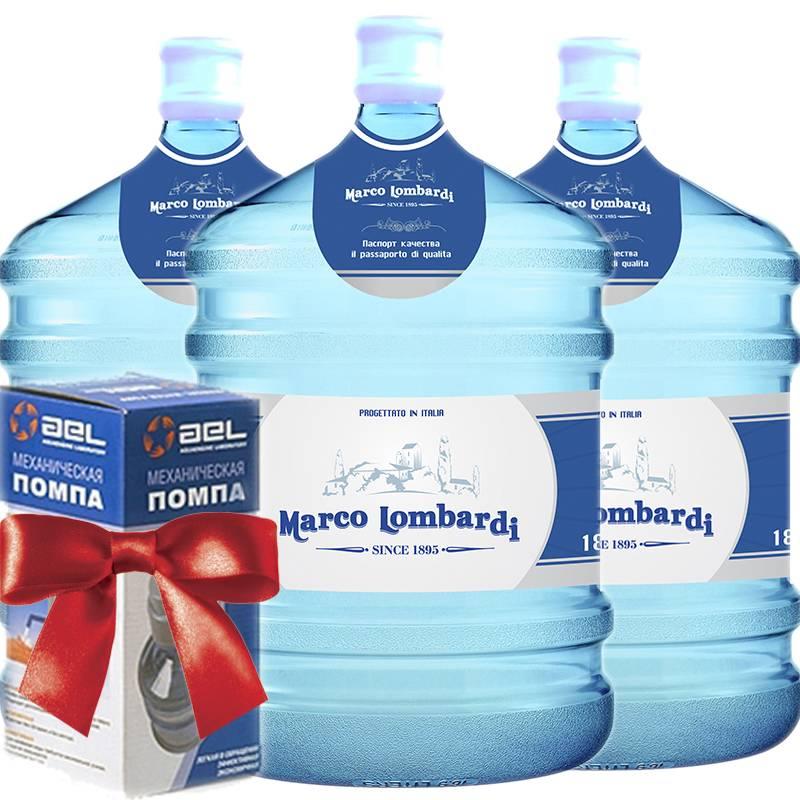 Заказ воды на дом помпа в подарок в 75