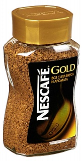 Кофе растворимый (НЕСКАФЕ) Nescafe Gold (стекло) 190 гр